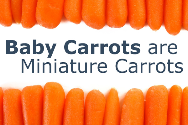 Baby Carrots are Miniature Carrots