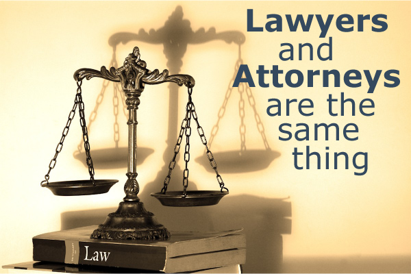 Lawyers and Attorneys are the Same Thing