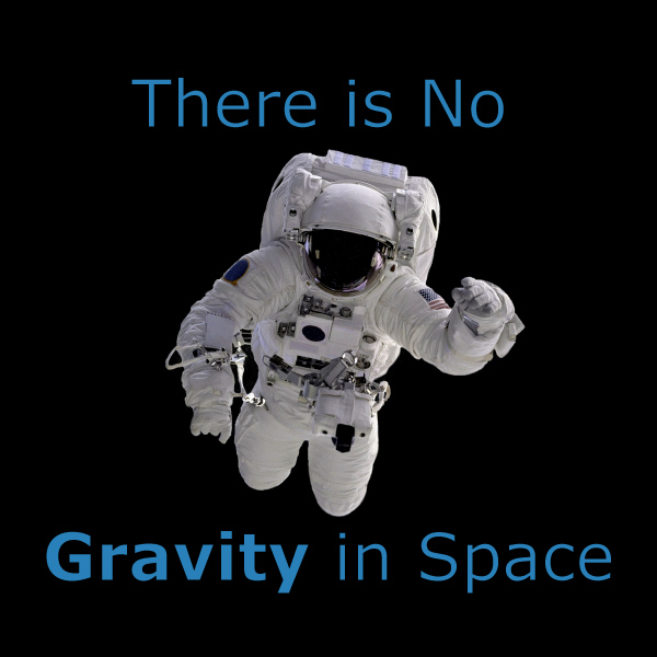 There is No Gravity in Space