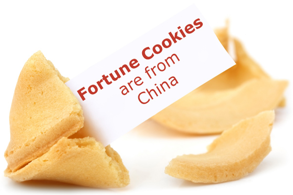 Fortune Cookies are from China