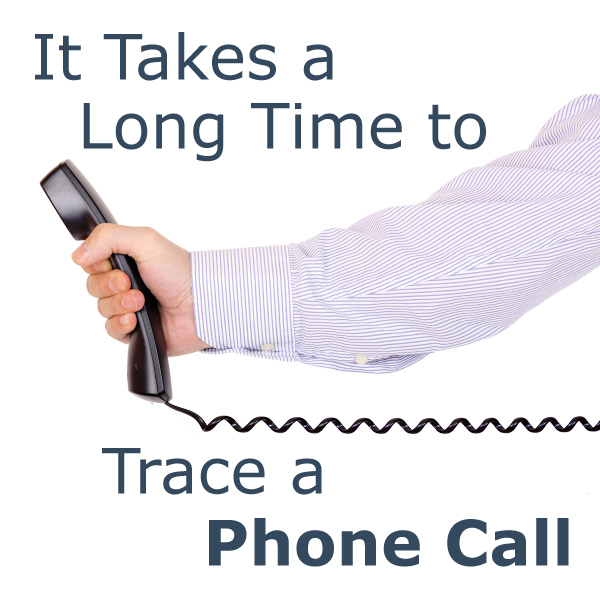 It Takes a Long Time to Trace a Phone Call