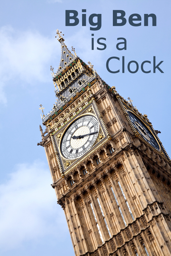 Big Ben is a Clock