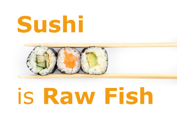 Food drink don 39 t believe that for Is sushi raw fish