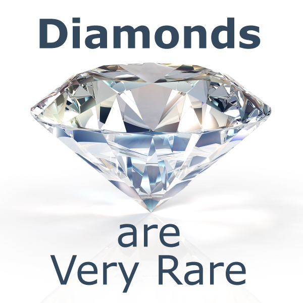 Diamonds are Very Rare