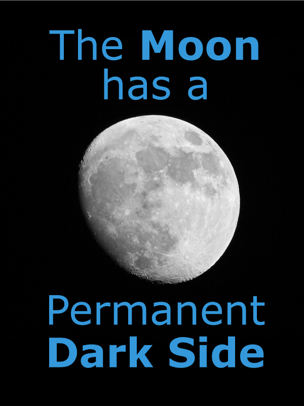 The Moon has a Permanent Dark Side