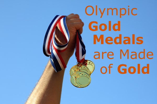 Olympic Gold Medals are Made of Gold